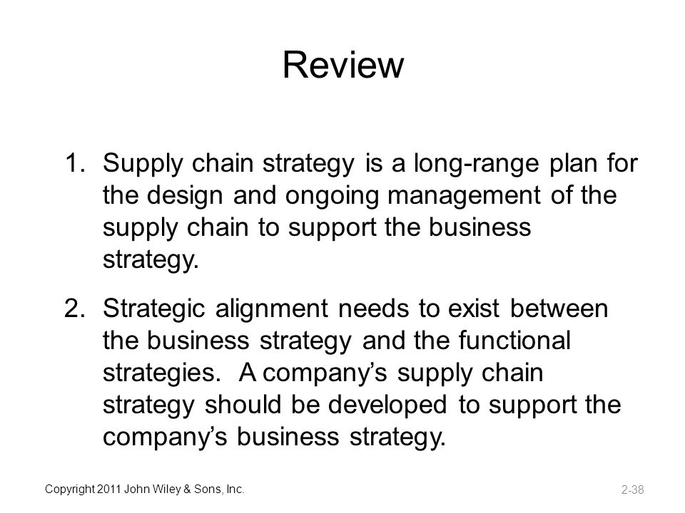 aligning the supply chain strategies with Lee, hl (2002) aligning supply chain strategies with product uncertainties california management review, 44, 105-119.