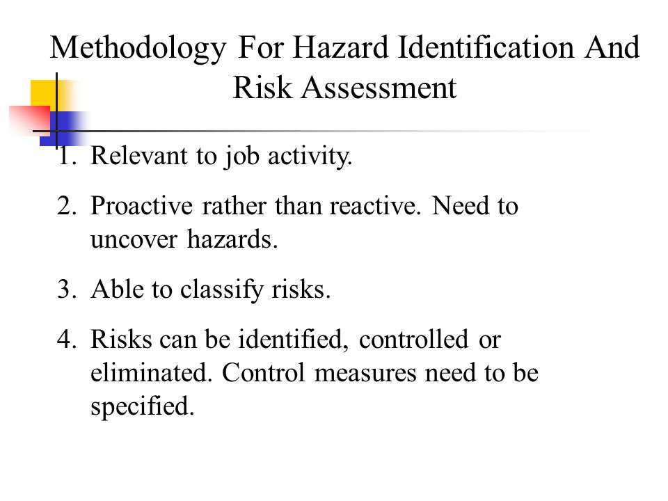 Methodology For Hazard Identification And