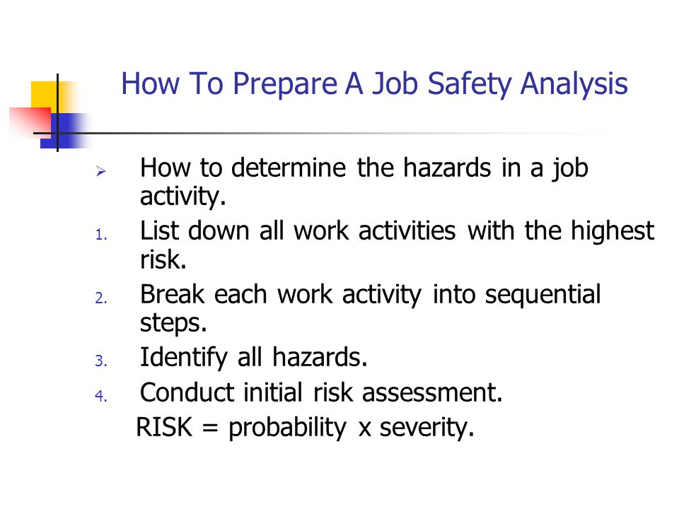 How To Prepare A Job Safety Analysis