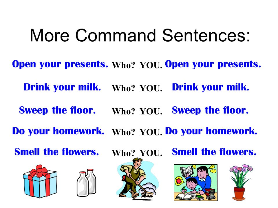Commands and exclamations ppt video online download for Sentence of floor