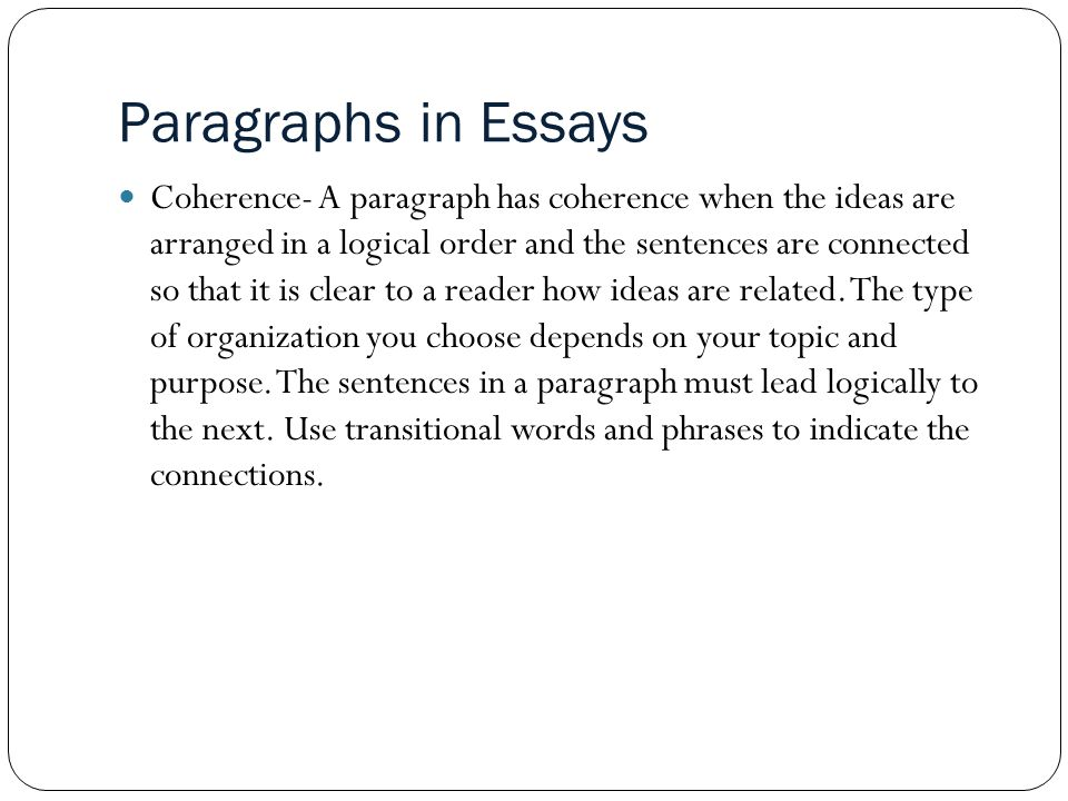 sentences paragraphs and compositions ppt  paragraphs in essays