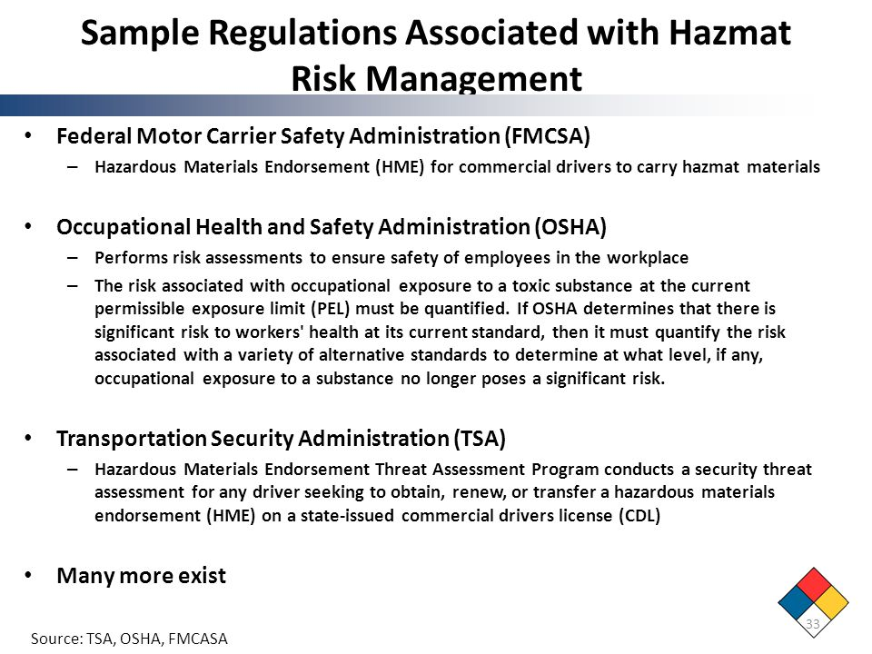 Toolkit For Hazardous Materials Transportation Education - Ppt