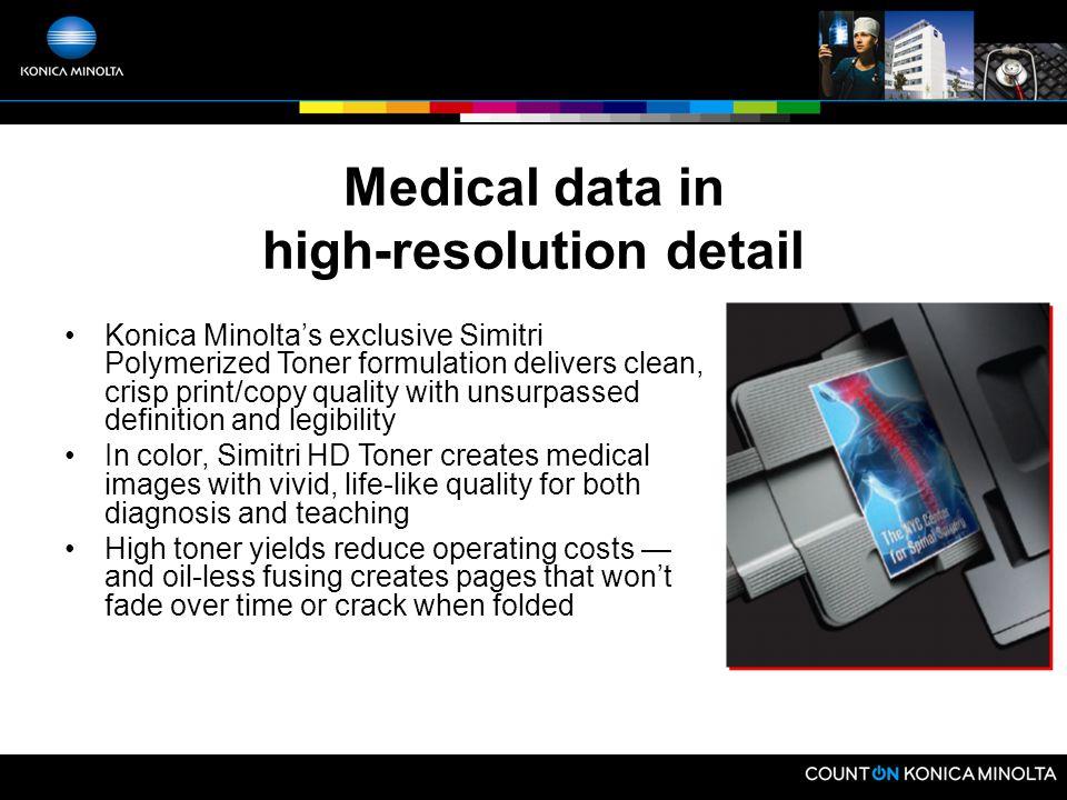 Bizhub Benefits Healthcare Applications