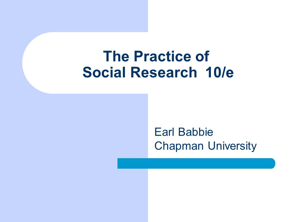 The Practice Of Social Research 10 E