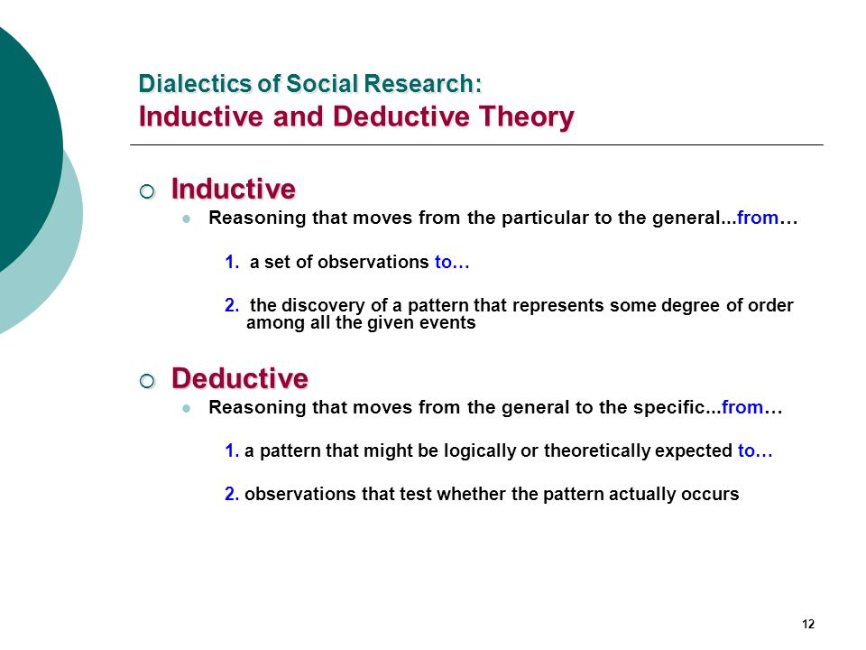 Inductive and deductive reasoning in research