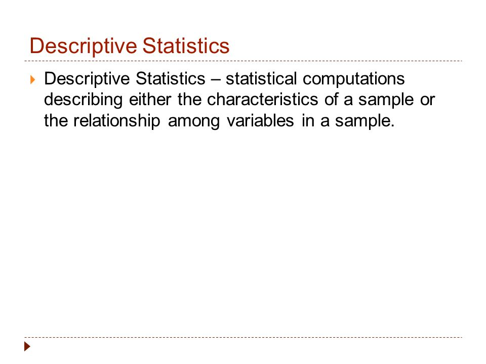 descriptive statistics research paper Research papers: overview: white papers: which descriptive statistics are most appropriate for your data will depend on the measurement scale used in.