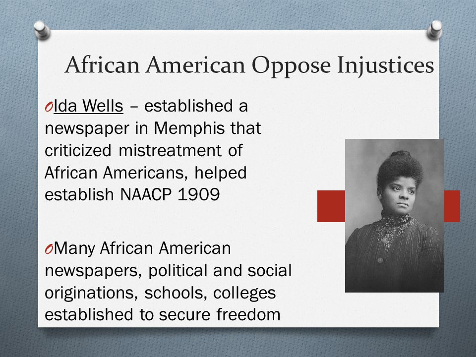 African American Oppose Injustices