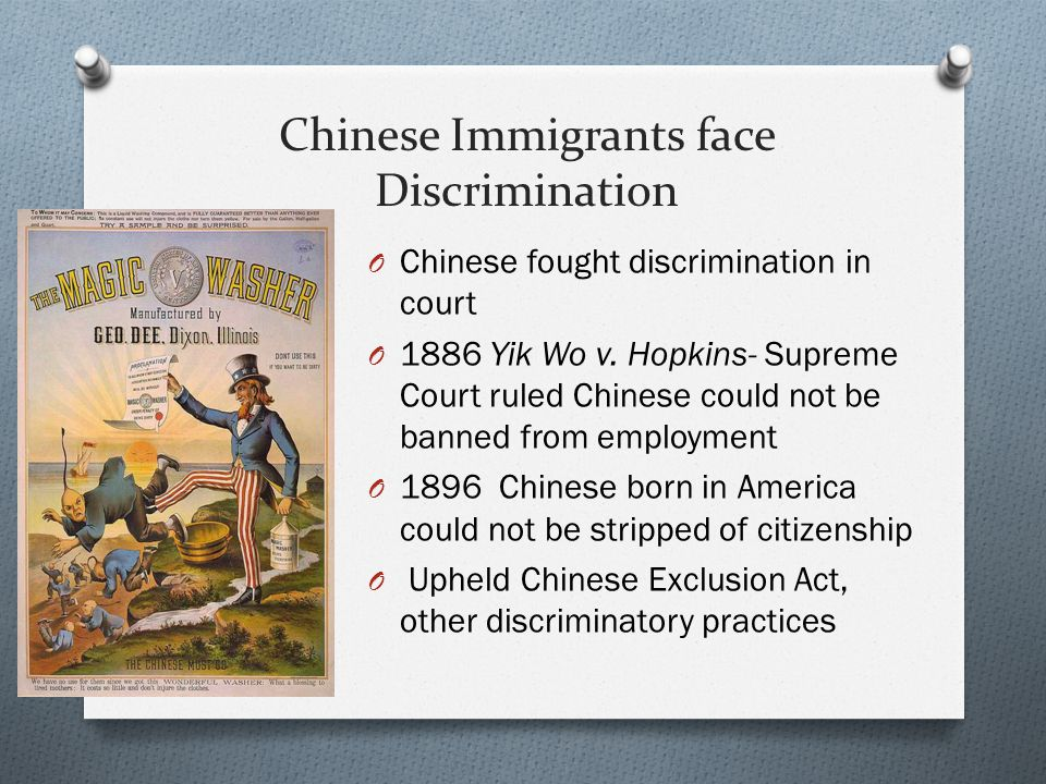 Chinese Immigrants face Discrimination