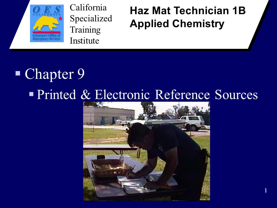 Chapter 9 Printed & Electronic Reference Sources