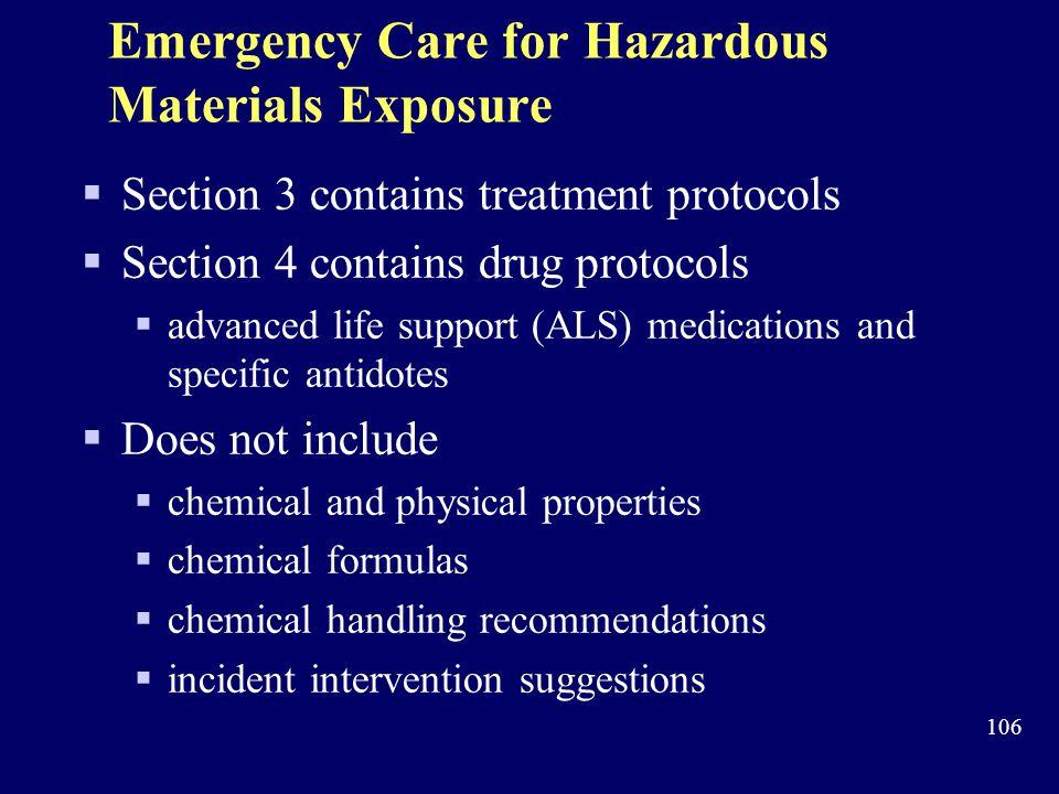 Emergency Care for Hazardous Materials Exposure