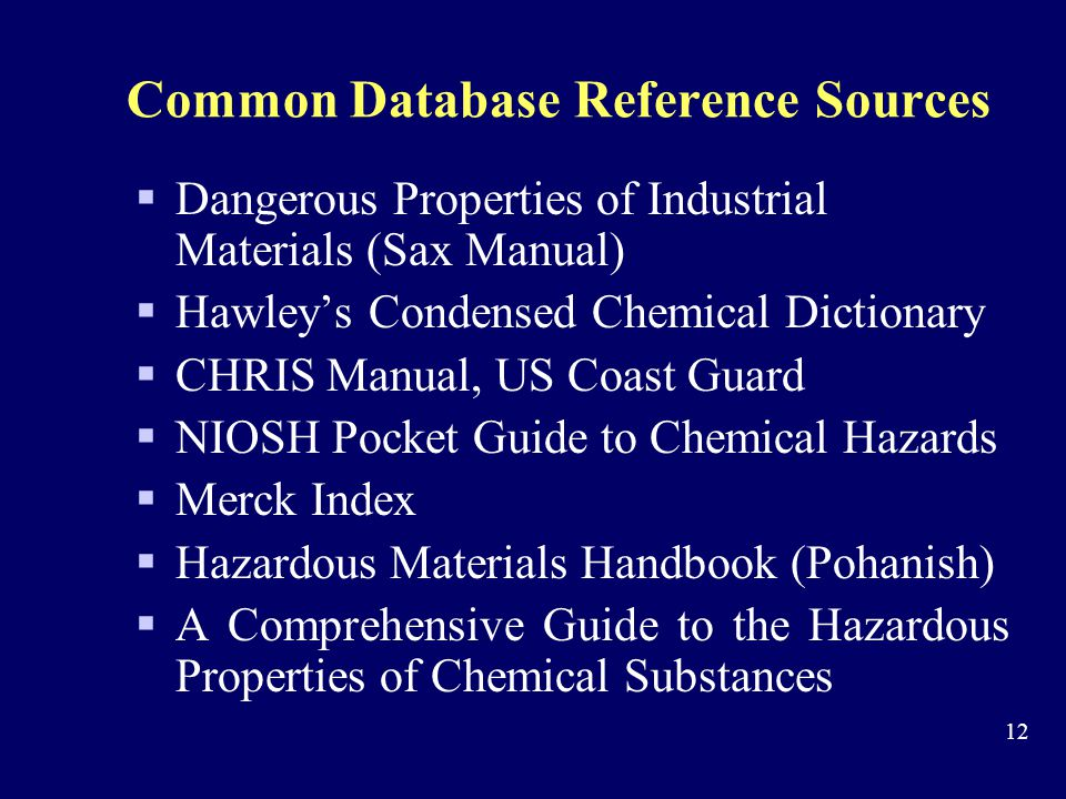 Common Database Reference Sources
