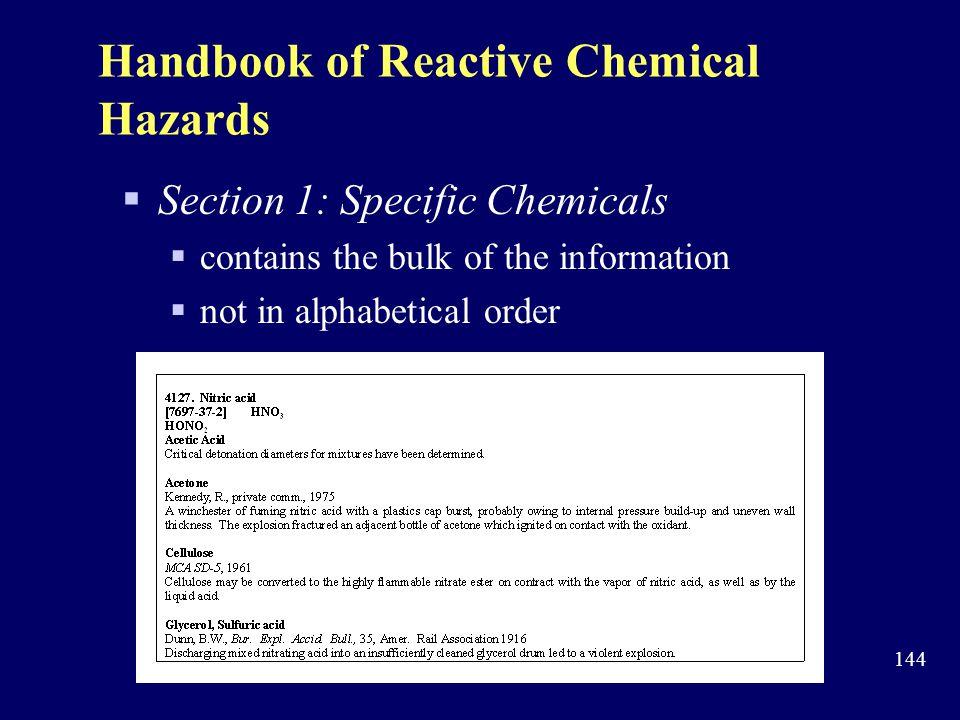 Handbook of Reactive Chemical Hazards