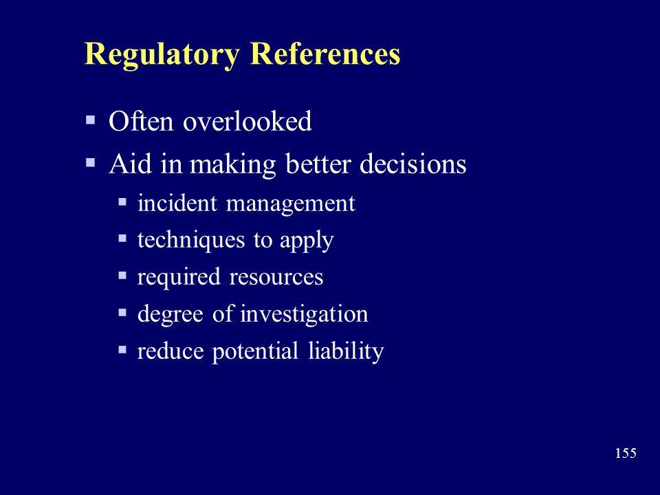 Regulatory References