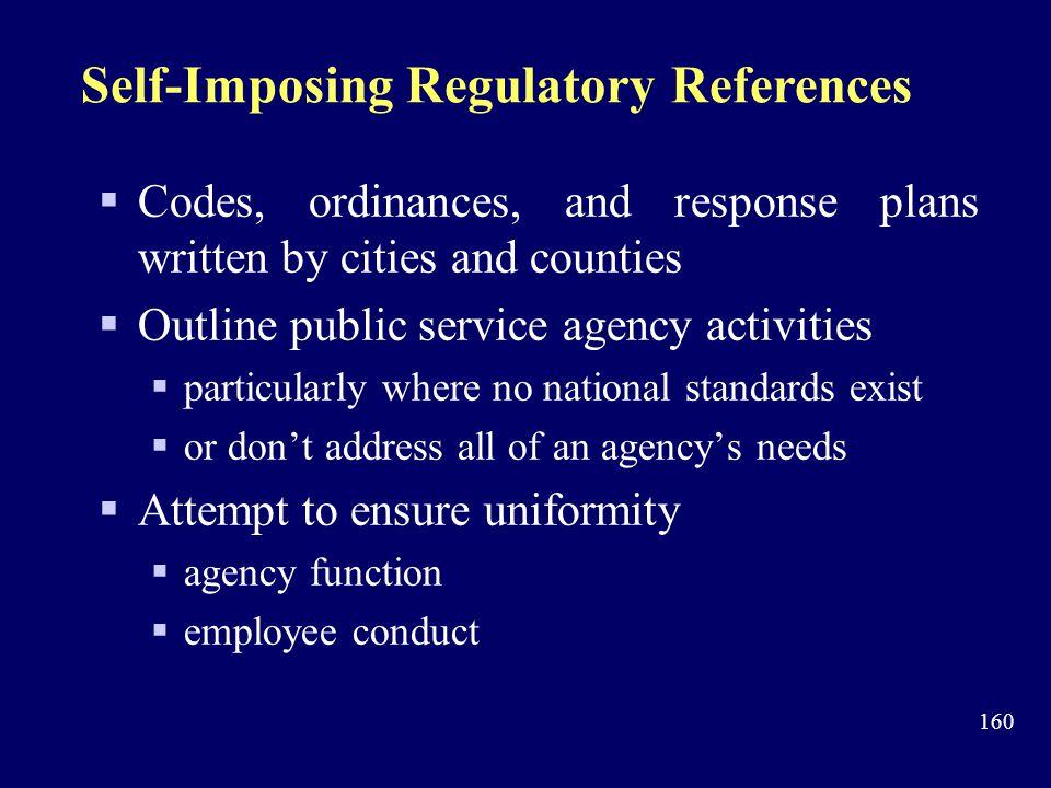Self-Imposing Regulatory References