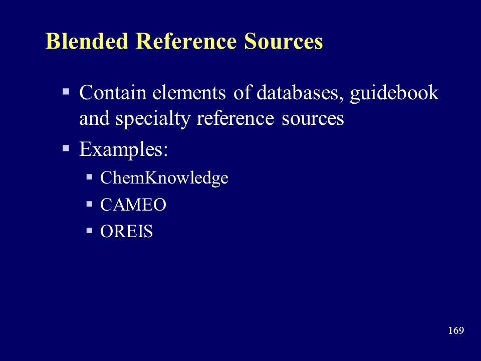 Blended Reference Sources