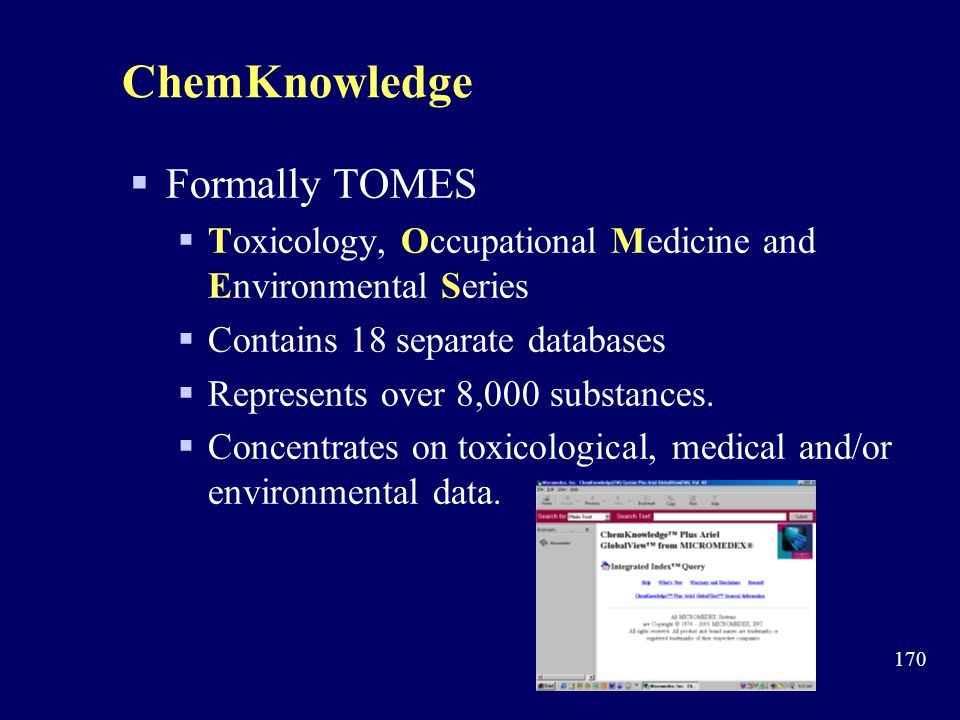 ChemKnowledge Formally TOMES