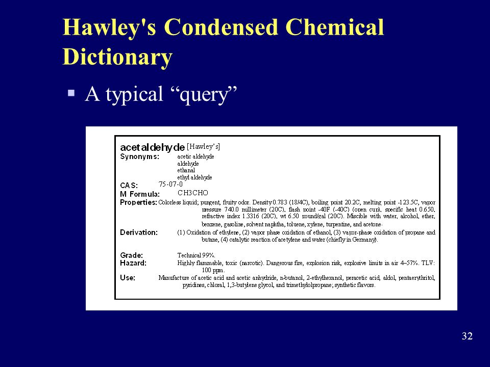 Hawley s Condensed Chemical Dictionary
