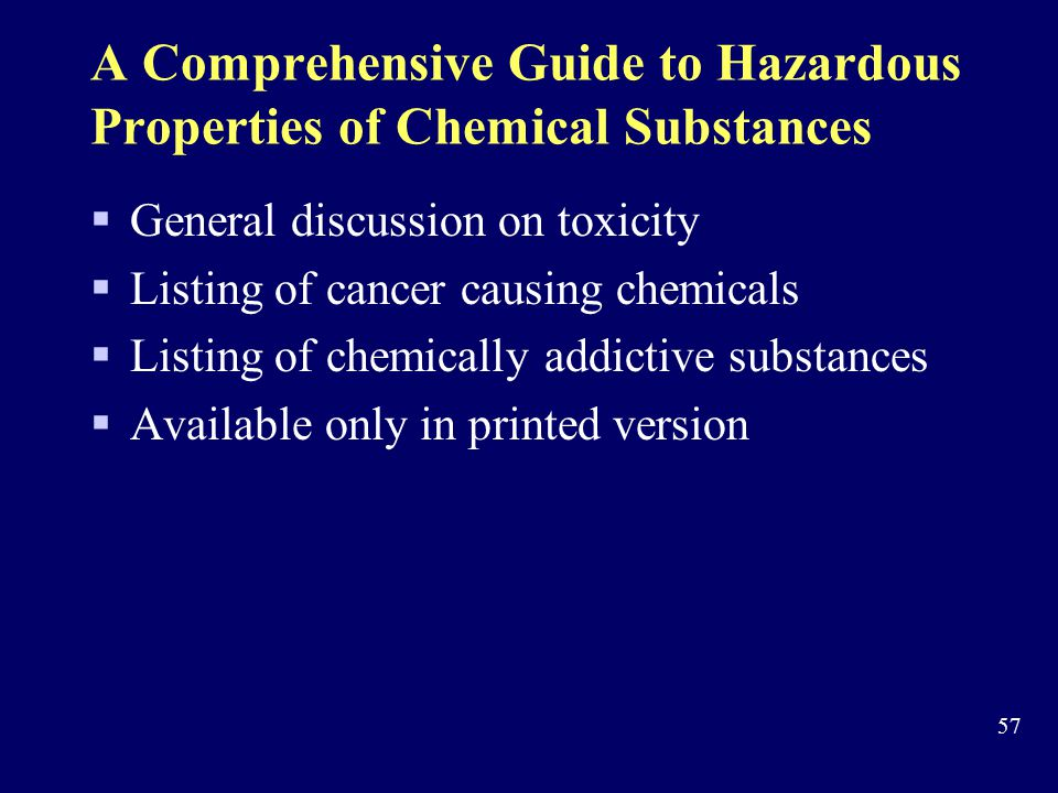 A Comprehensive Guide to Hazardous Properties of Chemical Substances