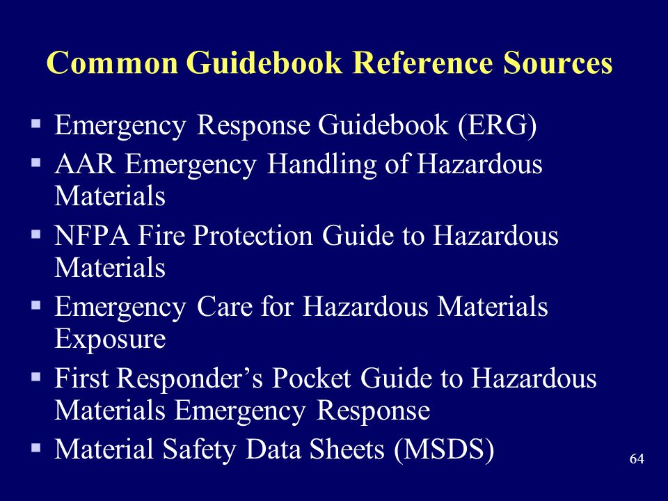 Common Guidebook Reference Sources