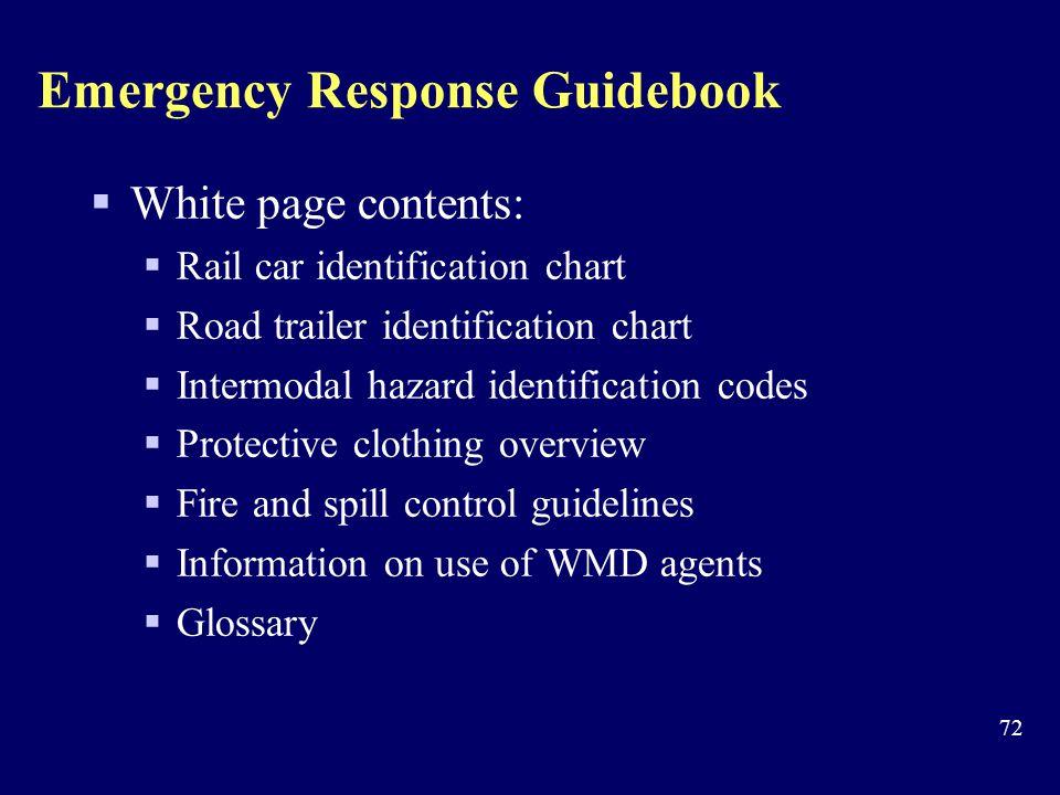 Emergency Response Guidebook