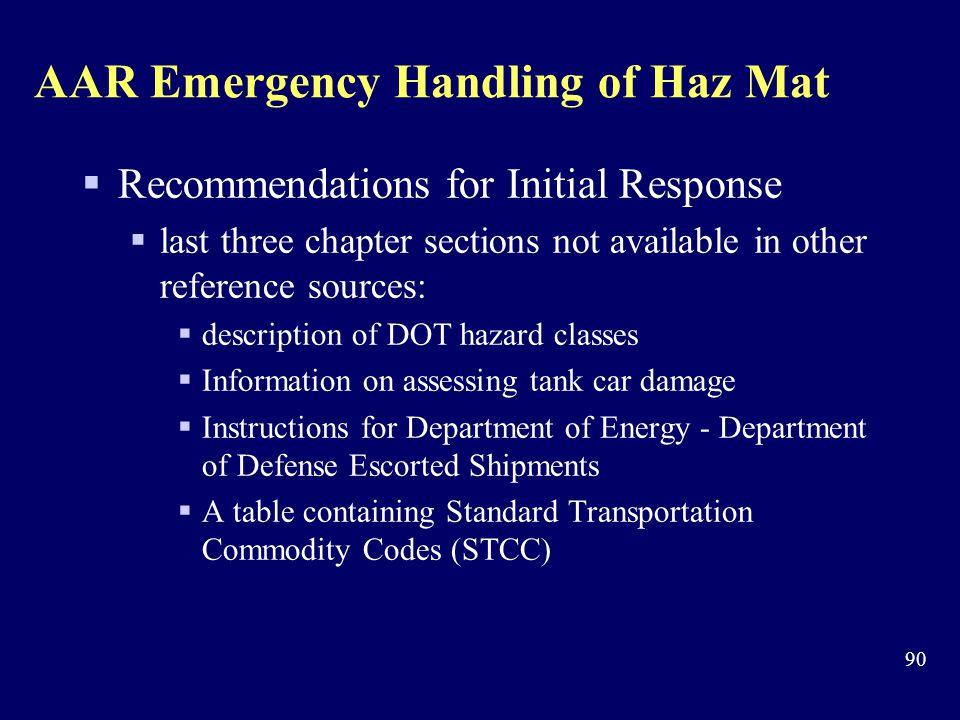 AAR Emergency Handling of Haz Mat