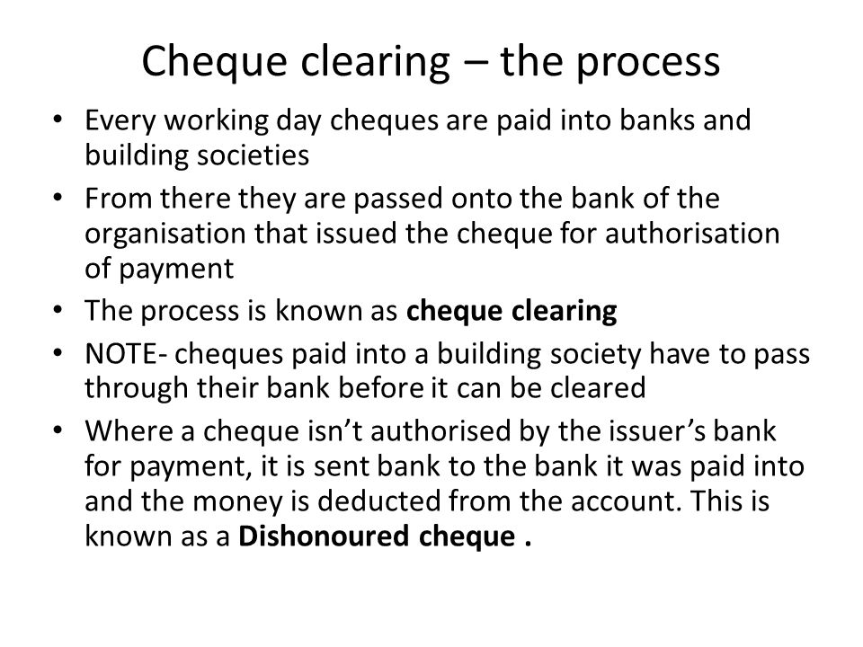 how to put a cheque into bank account