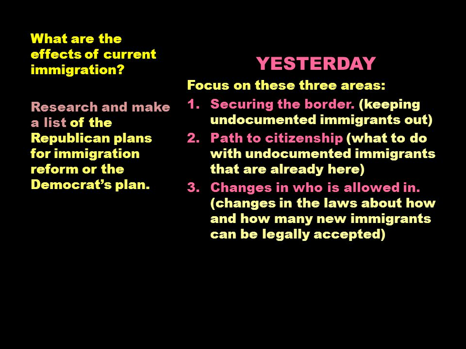 What is the effect of immigration