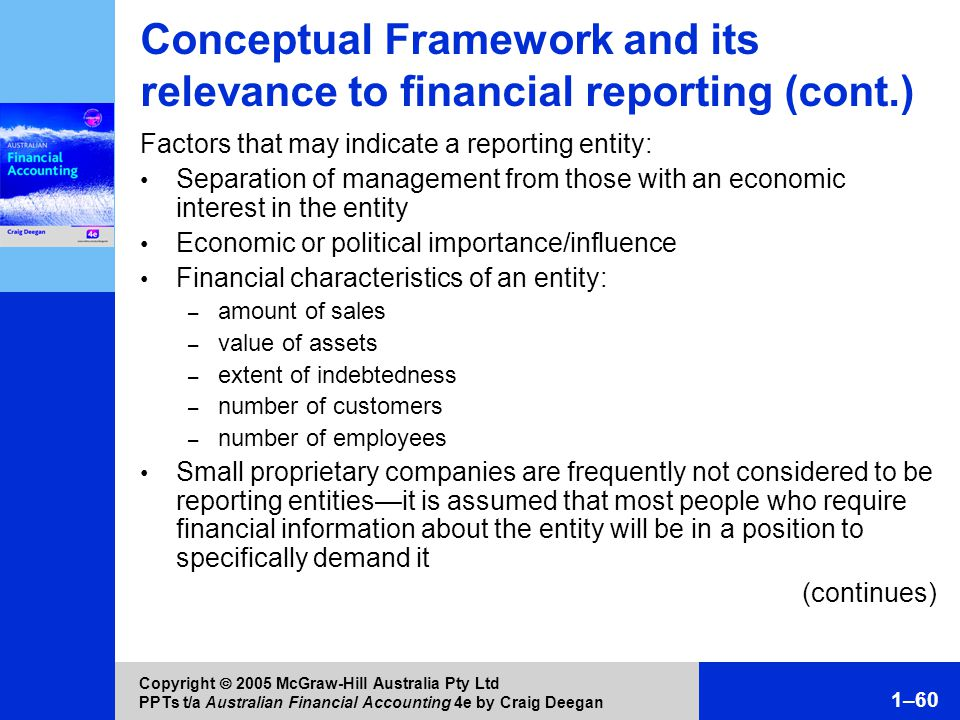 financial reporting entity For any financial report to be meaningful, the entity whose economic activities are  being reported must be clearly identi- fied because the reporting entity.