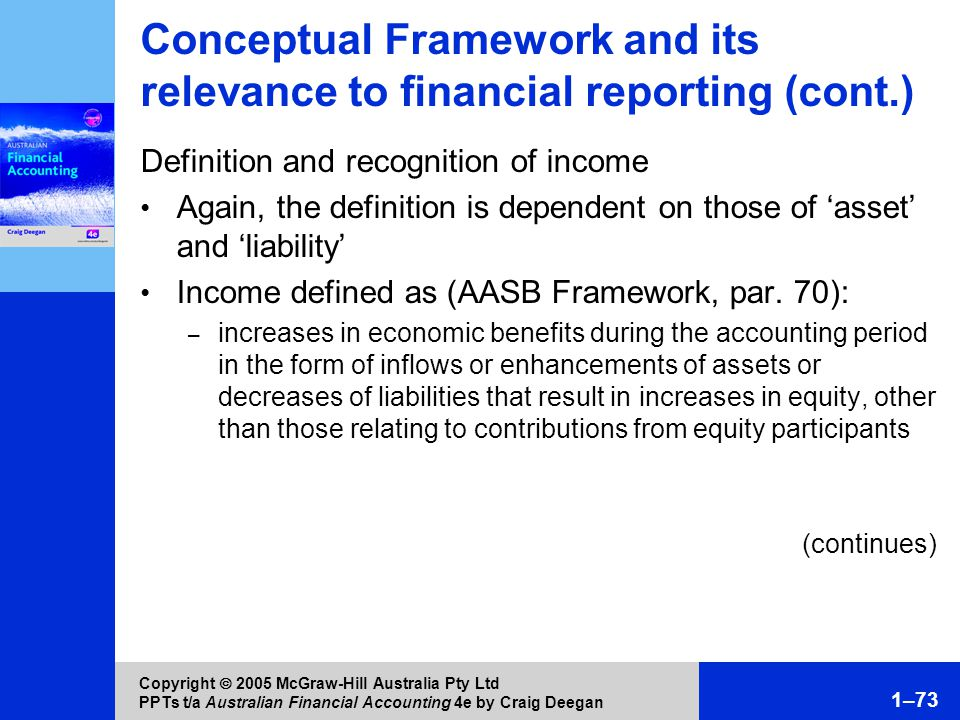 conceptual relevance Current iasb/aasb conceptual framework compared with revised conceptual framework comparison objectives qualitative characteristics current iasb/aasb conceptual.