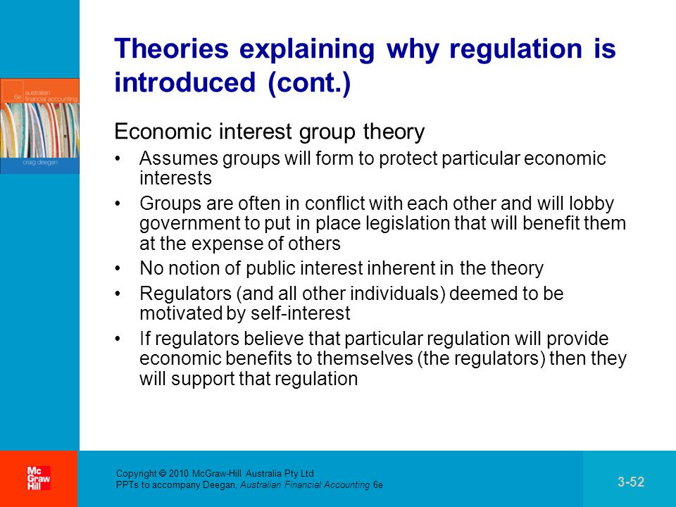 private interest theory of accounting regulation The board discussed a scope clarification to the private company accounting alternative, which will be included as part of the forthcoming final accounting standards update, consolidation (topic 810): targeted improvements to related party guidance for variable interest entities.