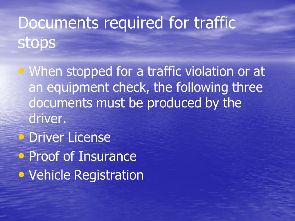 Alabama driver manual chapter outline ppt download for Documents required for driving license