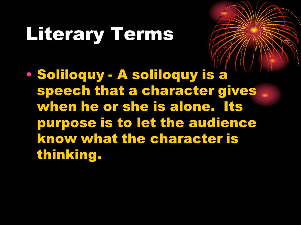 Soliloquy Examples