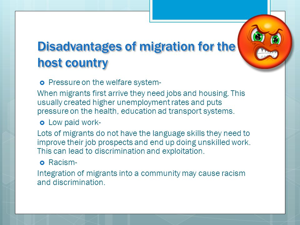 advantages of skilled worker migration Pro con essays - the advantages and disadvantages of skilled migrants  increased  the unemployed workers fault the government for this crisis, and  feel that.