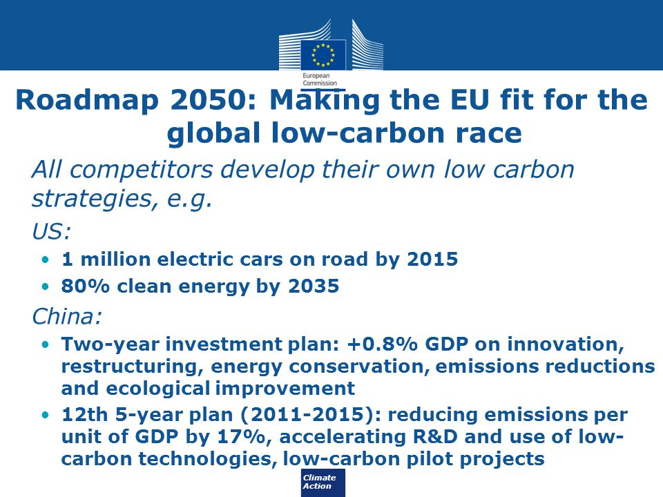 Roadmap 2050: Making the EU fit for the global low-carbon race