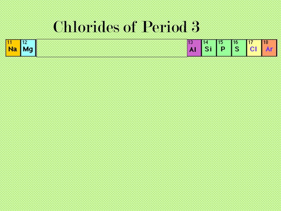 Chlorides of Period 3