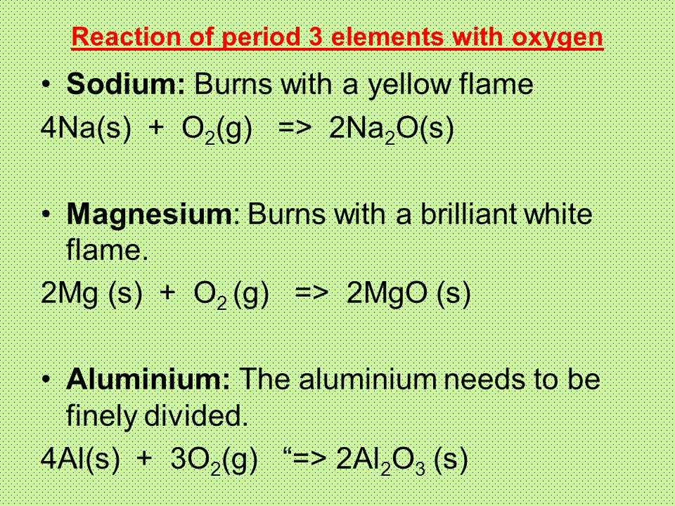 O2 Be Brilliant >> 13.1. Period 3: Oxides and Chlorides - ppt video online download