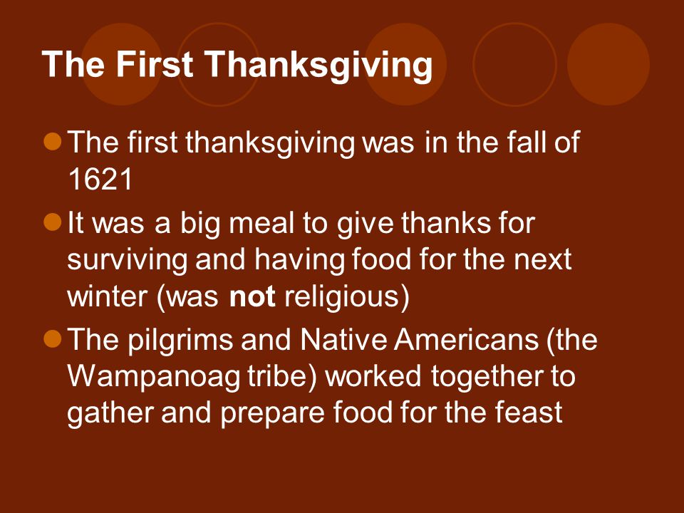 Thanksgiving what s it all about ppt video online download for What did they eat at the first thanksgiving