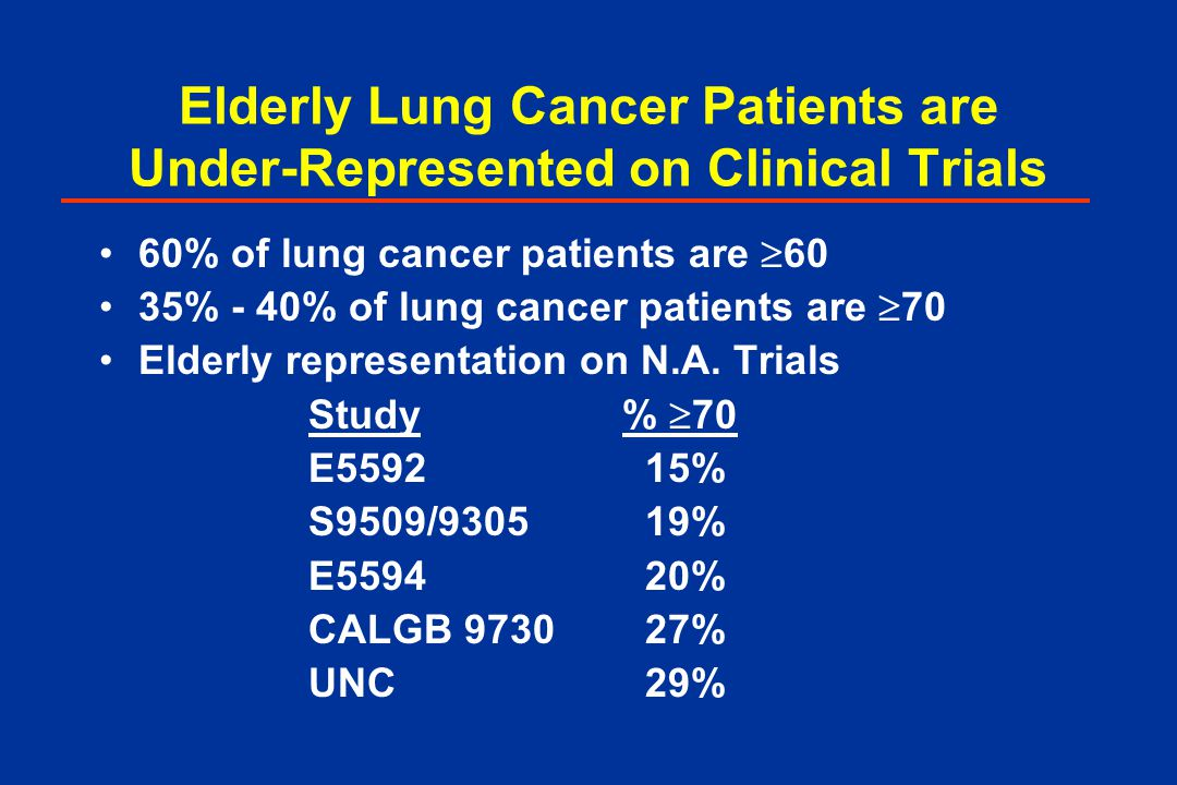 Elvis trial lung cancer