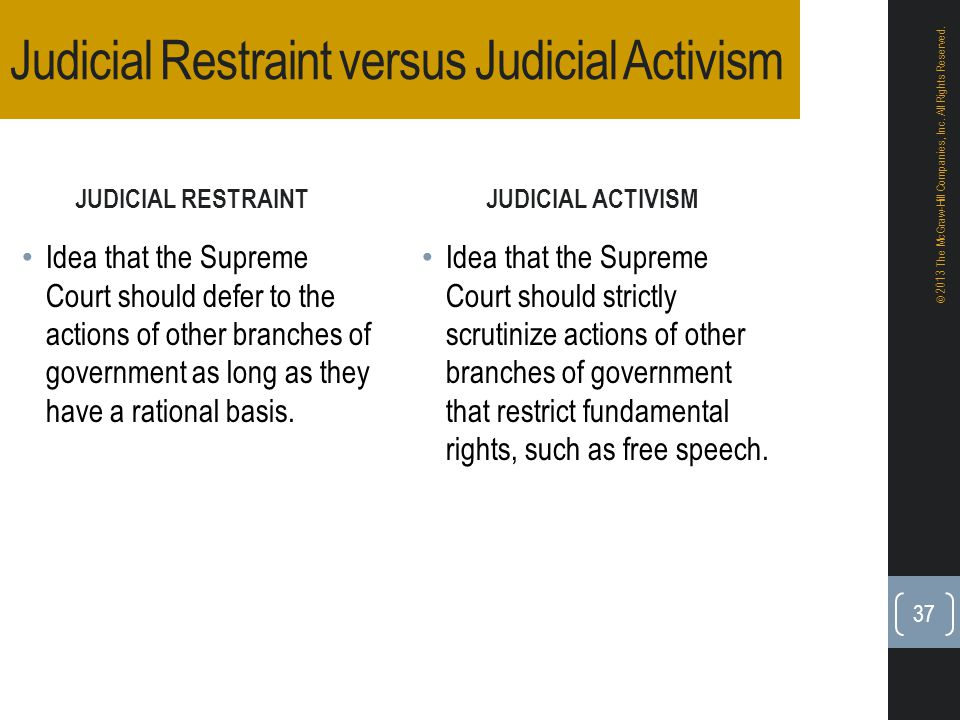 disadvantages and advantages of judicial activism In short, both the theories of judicial activism and restraint have their own  advantages and disadvantages however, judges striking down.