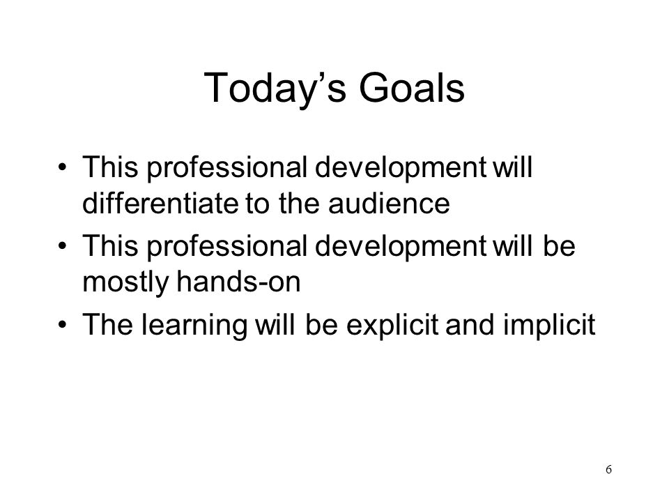 differentiated instruction professional development