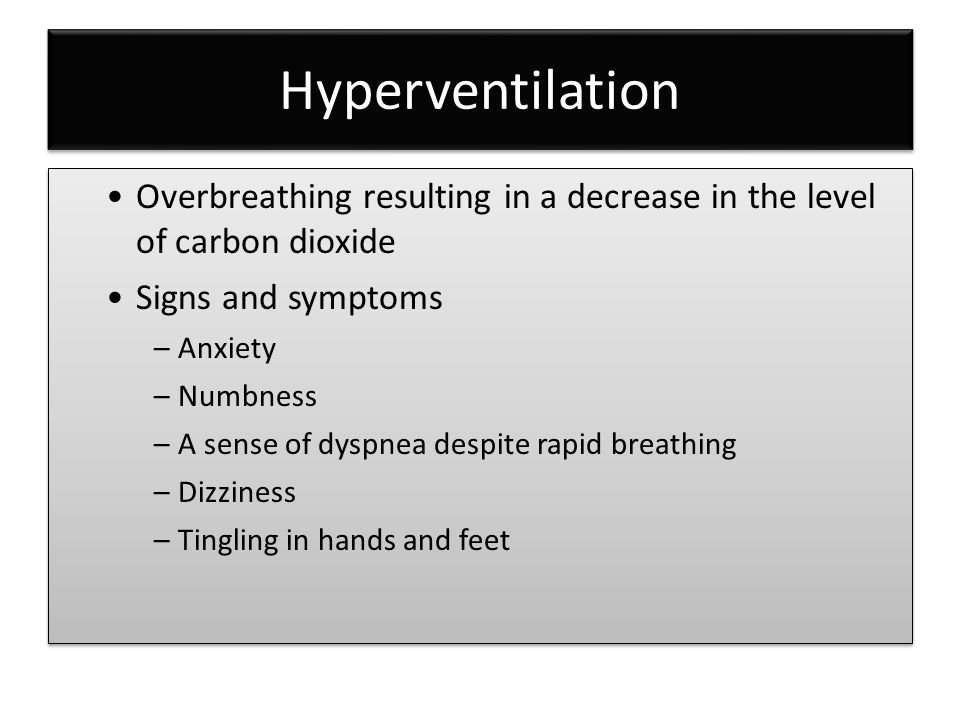 Respiratory emergencies ppt video online download for Tingling in hands and feet anxiety
