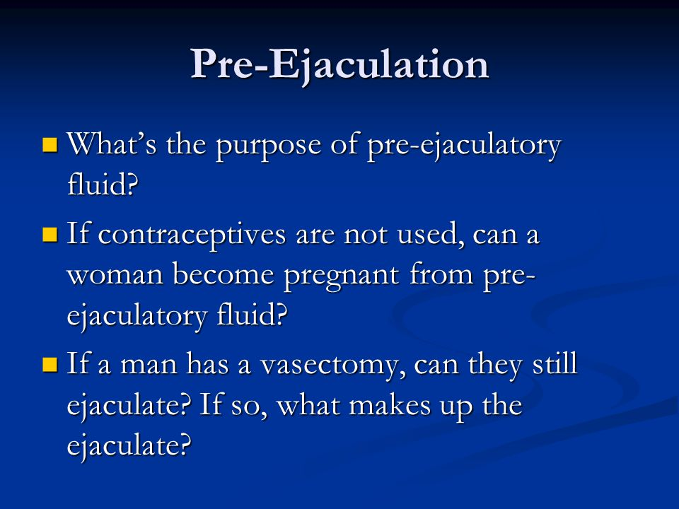 Preejaculatory fluid sperm count
