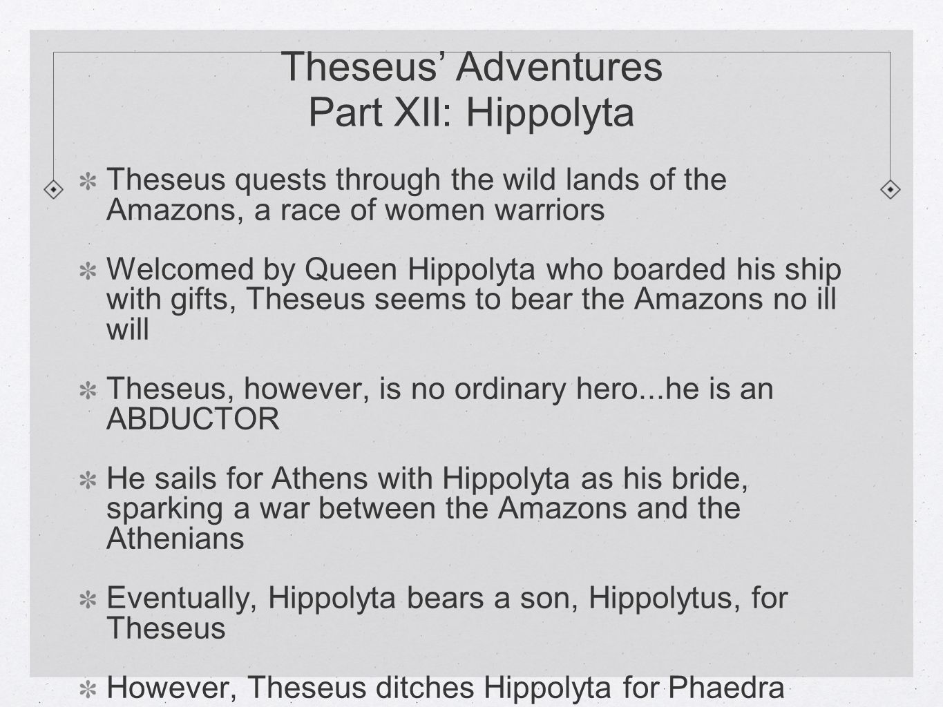 hippolyta and theseus relationship goals