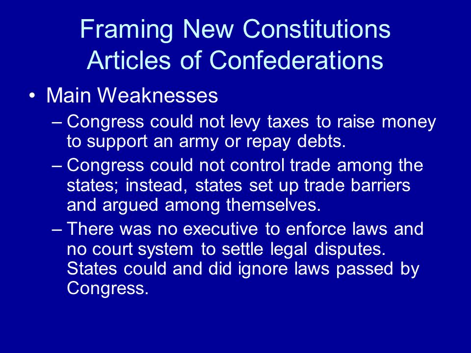 a comparison of democracy in the american constitution and the articles of confederation