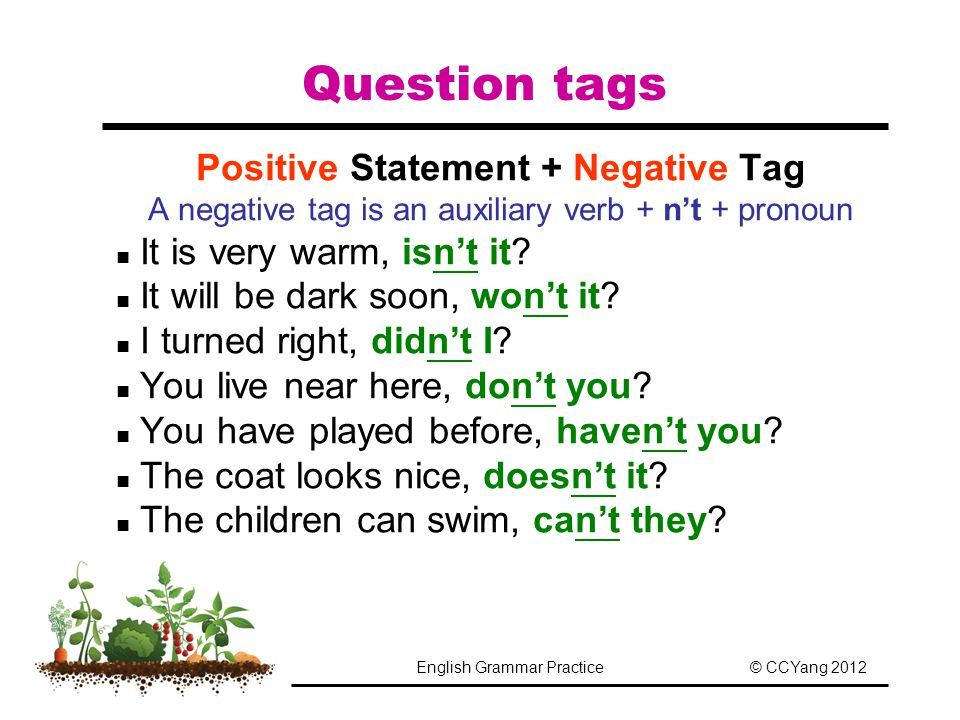 how to find negation statement