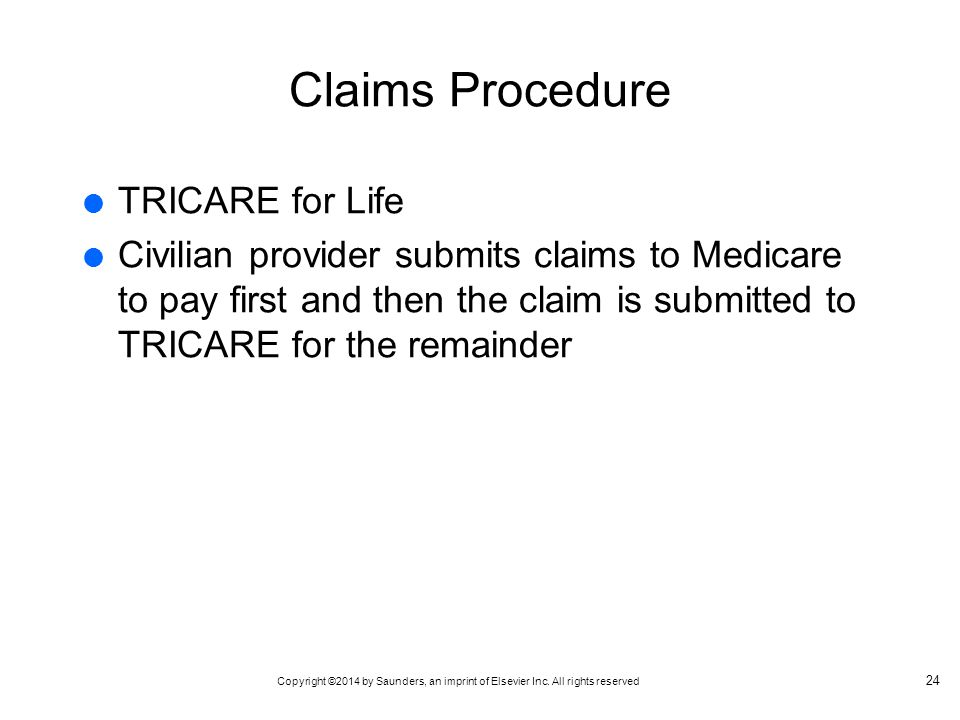 Claims Procedure TRICARE for Life