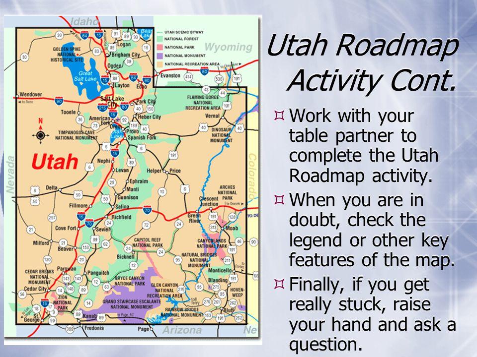 Utahs Geography Unit I Ppt Video Online Download - Utah road map