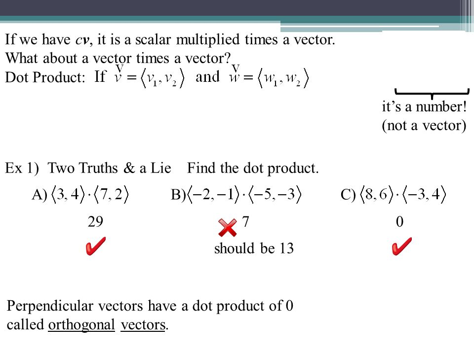 Parallel vectors scalar