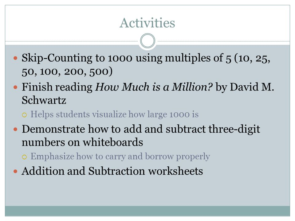 Second Grade Math Numbers And Operation Algebraic Concepts Ppt