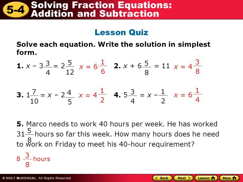 Warm Up Problem of the Day Lesson Presentation Lesson Quizzes. - ppt ...